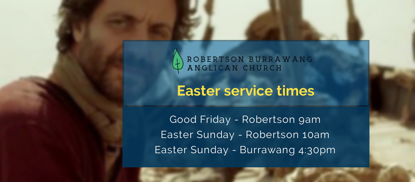 Info re Easter Services 2019